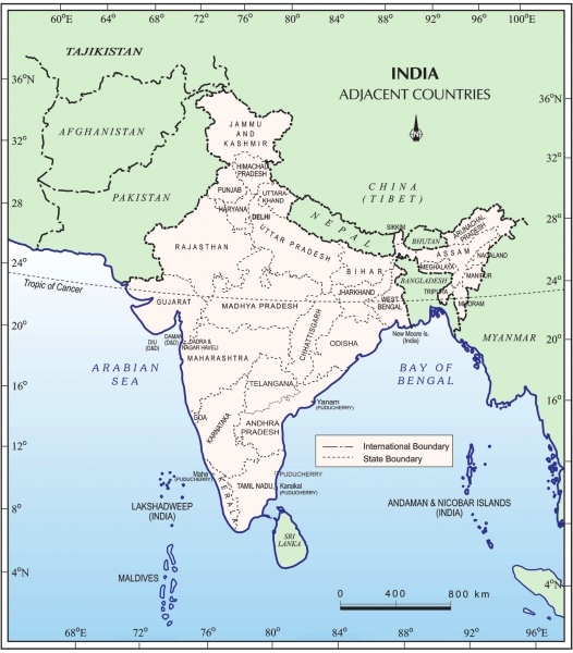 India - Size and Location (Class 9 Geography Chapter 1 Notes)