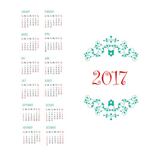 2017カレンダー無料テンプレート96