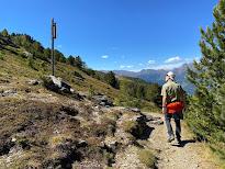 Heading toward Bormio 2000 on the border of the Stelvio National park.