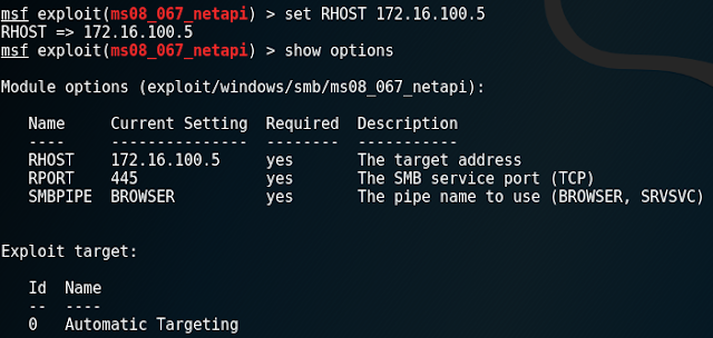 ms08_067_netapi > set RHOST