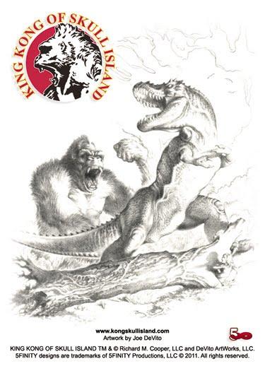 Sketch Card Art!: King Kong of Skull Island