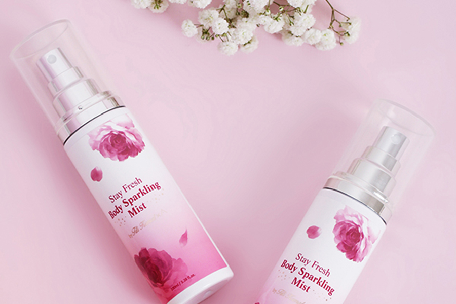 titi x althea korea, althea angels, althea korea, stay fresh body sparkling mist, damask rose water, orange flower extract, elder flower extract,