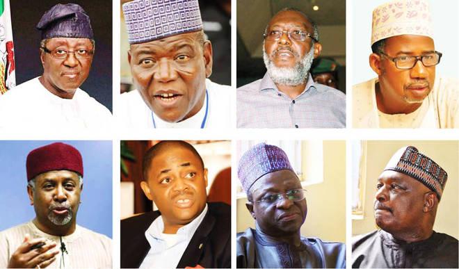 See Big Politicians Buhari Sent To Jail (Photos)
