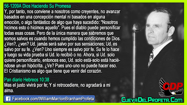 Como sabemos que somos salvos - William Branham en Español
