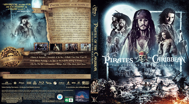 Pirates of the Caribbean: The Curse of the Black Pearl Bluray Cover