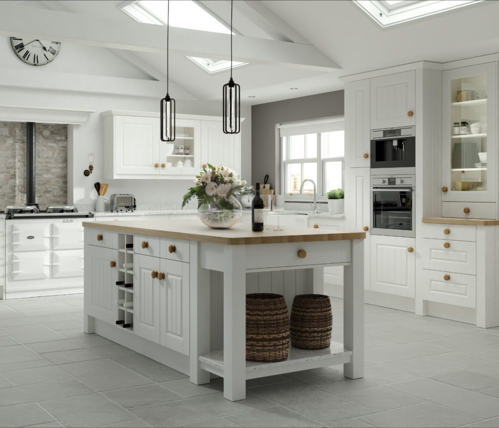 Kitchens Direct NI: Amalfi Legno White Traditional Style