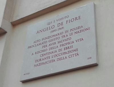 Targa Angelo De Fiore