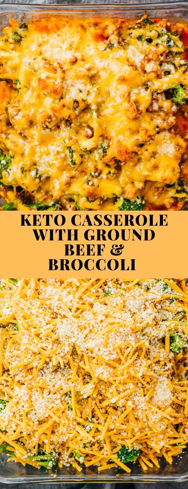 KETO CASSEROLE WITH GROUND BEEF & BROCCOLI #casserole #dinner #lowcarb #keto