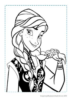 Dibujo de Anna de Frozen para colorear