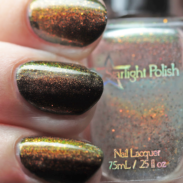 Starlight Polish Phoenix Wishes over black
