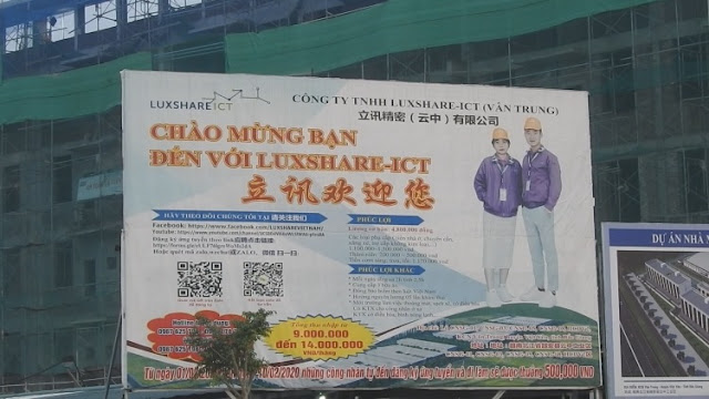 Công ty Trung Quốc Luxshare-ICT sai phạm: Đưa người trái phép vào Việt Nam nhằm mục đích gì?
