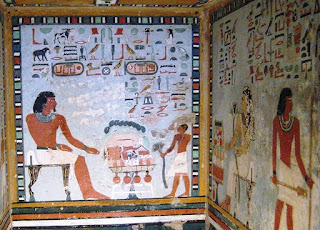 Interno di una tomba Egizia. Le dinastie al potere
