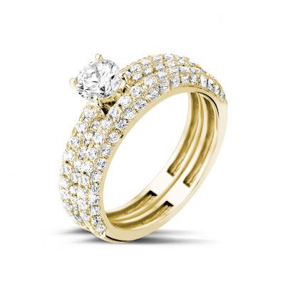 Anillos de bodas con diamantes