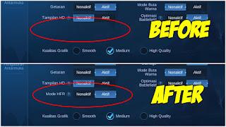 Cara Memunculkan Mode High Frame Rate (HFR) Di MLBB Unity V2.0