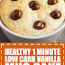 Healthy 1 Minute Low Carb Vanilla Mug Cake
