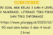 90 Soal AKM Kelas 3 dan 4 Level 2 Numerasi, Literasi Teks Fiksi dan Teks Informasi