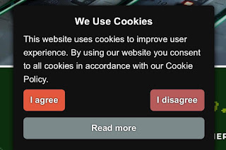 Banner de aceptación de Cookies