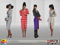 VolatileSims Mugler Pre-Fall Shirt Dress Recolor