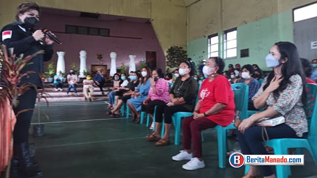 Sosialisasi Empat Pilar MPR-RI, Senator Maya Rumantir Beri Motivasi Bagi Warga Kakaskasen Satu