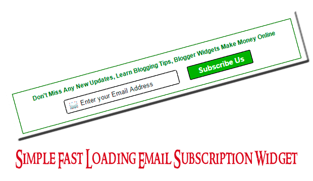 blogger-simple-subscription-widget