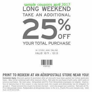 Aeropostale coupons april 2017