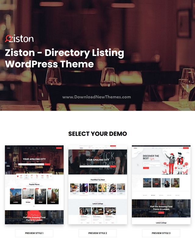 Ziston Directory Listing WordPress Theme