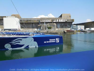 Gitana 17 mis à l'eau à Lorient