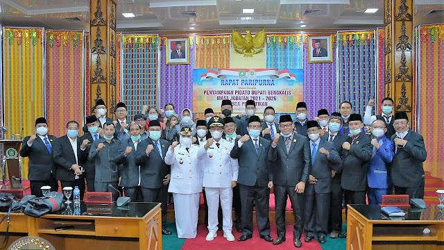 DPRD Bengkalis Melaksanakan Rapat Paripurna Penyampaian Pidato Bupati