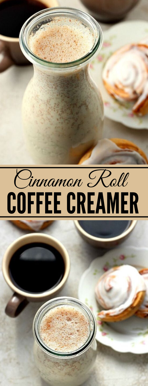 Homemade Cinnamon Roll Coffee Creamer #drink #roll #homemade #coffee #easy