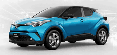 Toyota CHR Blue Metallic With Sporty Black Roof