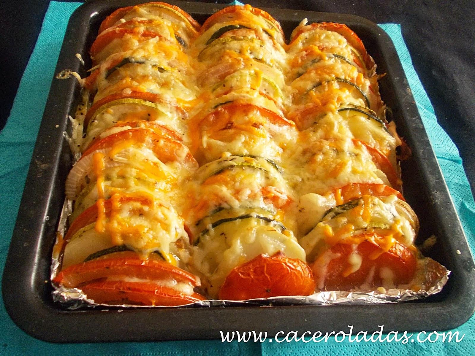 Verduras gratinadas  CACEROLADAS