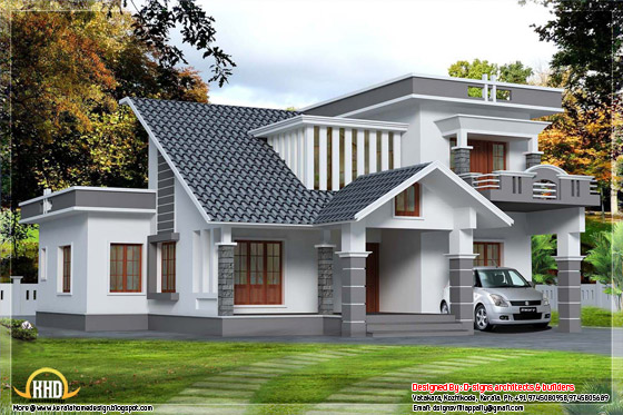 3 BHK, 2500 square feet contemporary mix home design