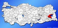 Bitlis ilinin Türkiye haritasında gösterimi