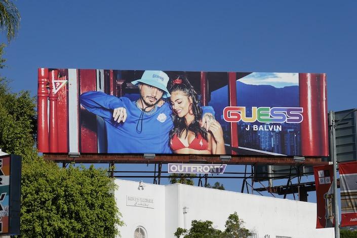 Guess J Balvin S20 colour billboard