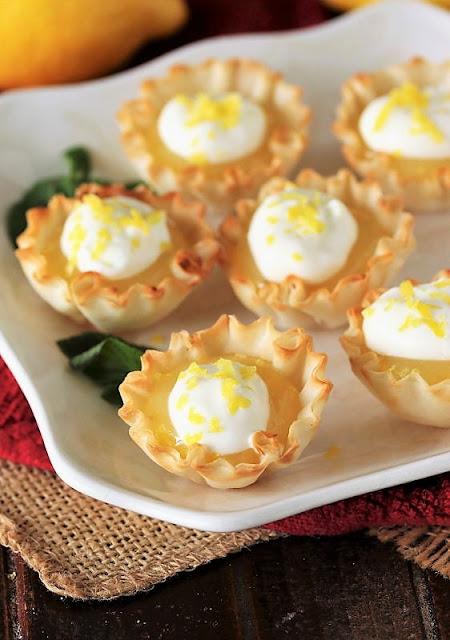 Plate of Lemon Curd Tartlets Image