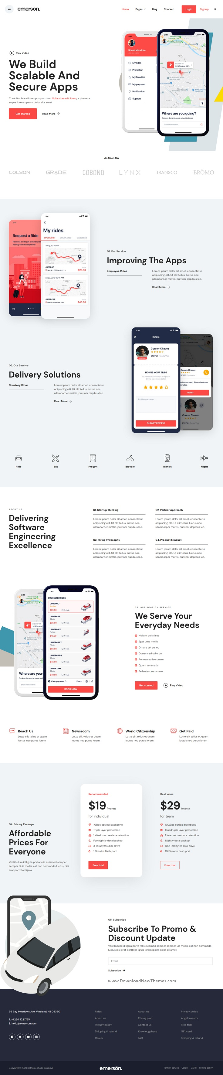 App and Software Showcase Elementor Template Kit