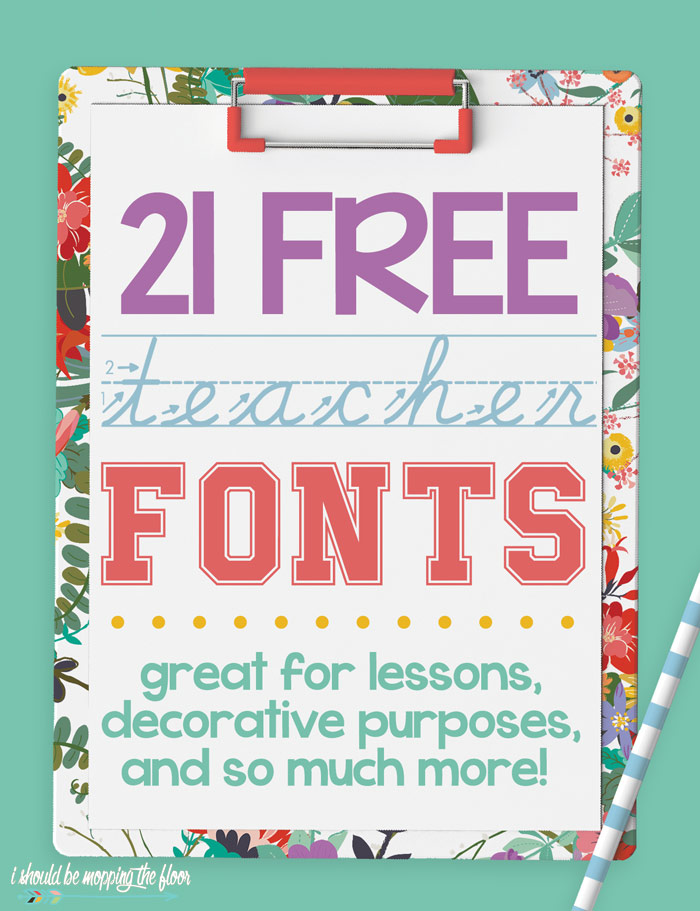 Free Teacher Fonts