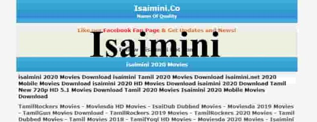 Isaimini Tamil Dubbed Movies Download 2020 TamilRockers Moviesda