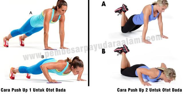 Olahraga push up untuk membesarkan payudara