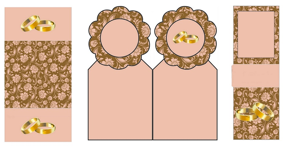 Anillos De Matrimonio En Fondo Con Rosas Rosadas En