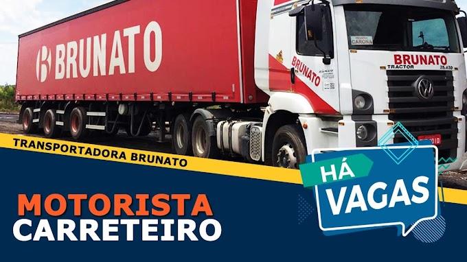 Transportadora Brunato abre vagas para motorista carreteiro