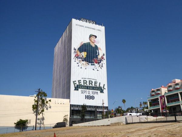 Ferrell Takes the Field HBO movie billboard