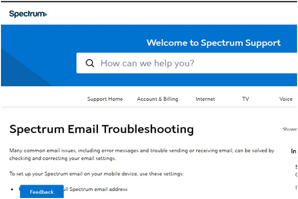 Fix Spectrum Email Not Working Issues