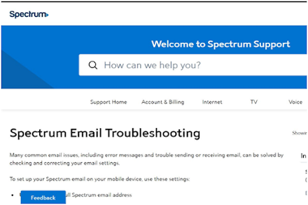 Fix Spectrum Email Not Working Issue