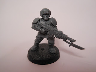 Shadow War: Armageddon cadian kill team vet with lasgun and bayonet