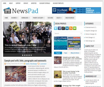 NewsPad Blogger Template