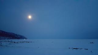 Заход солнца на Байкале. Ангасолка