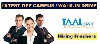 TAAL Tech India Private Limited Job Vacancy For BE Mechanical Candidates In Bengaluru, Karnataka