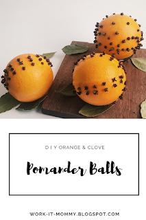 DIY Pomander Balls // Deck the Halls {Christmas craft} on Work it Mommy blog
