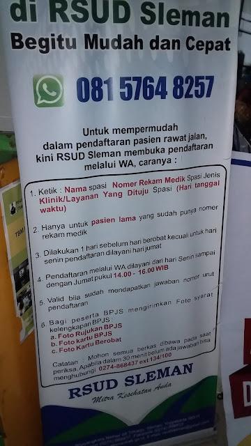 Cara Mendaftar Online Pasien Kontrol Rawat Jalan di RSUD Sleman